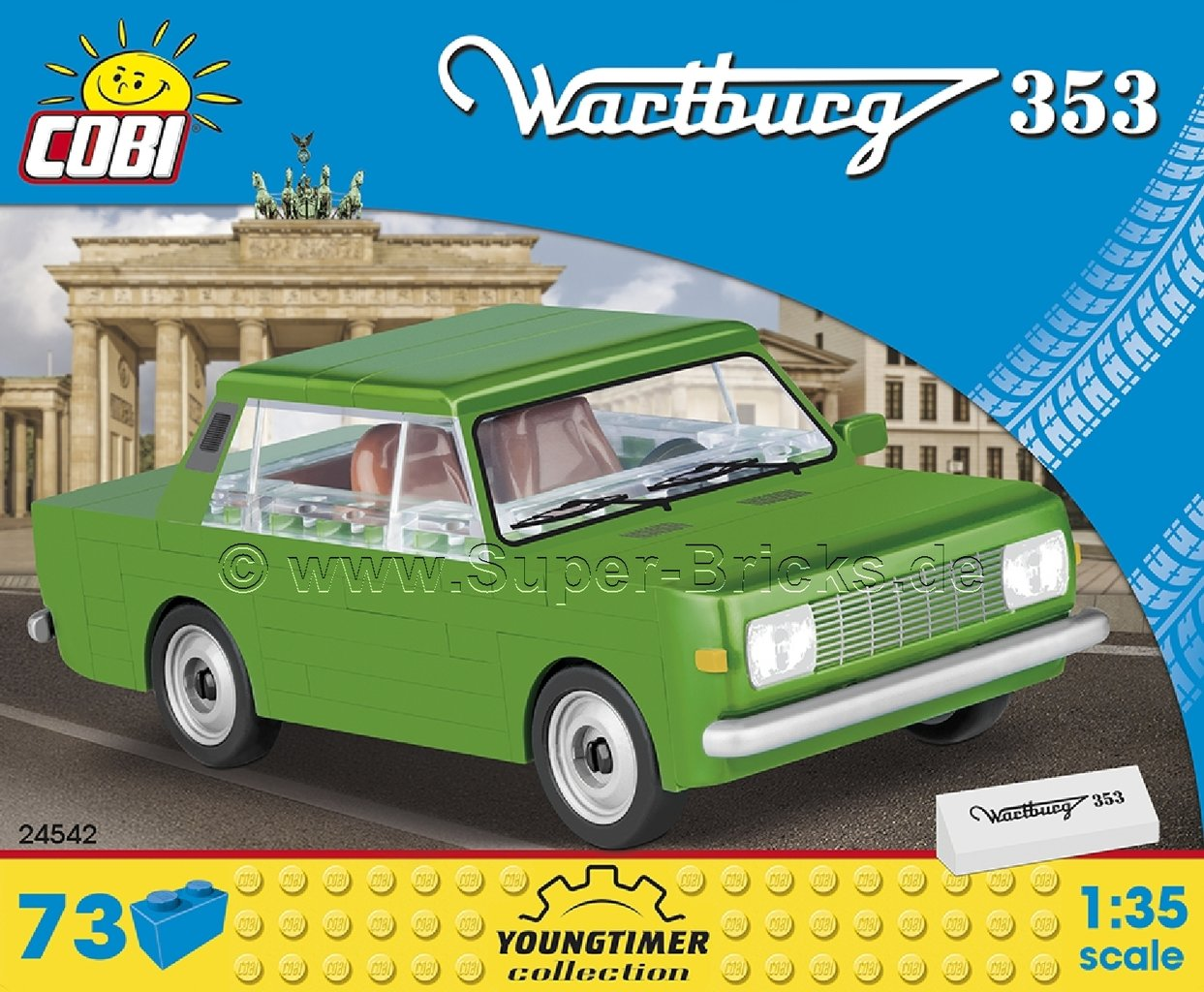 Super-Bricks.de++ Cobi 24542 - Wartburg 353 (73 Teile)