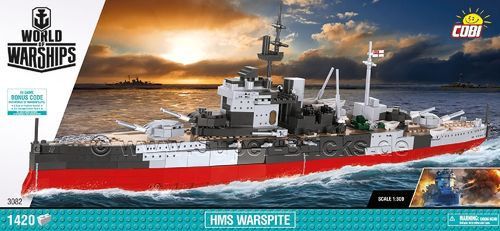 World of Warships HMS Warspite (1420 Teile)