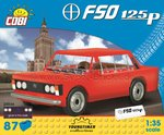 Fiat 125p rot (87 Teile)