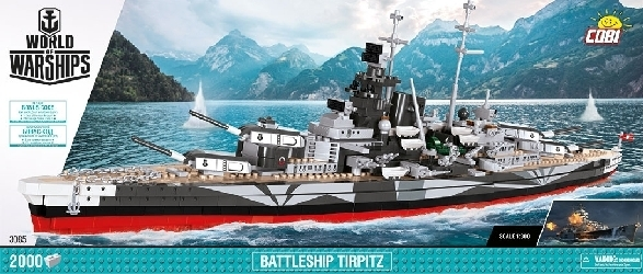 World of Warships Schlachtschiff Tirpitz (2000 Teile)