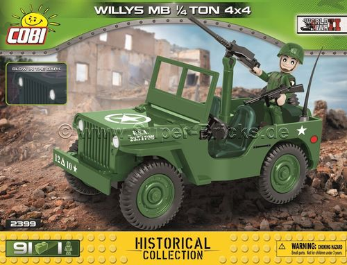 US Army Willys Jeep MB (91 Teile)